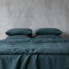 Balsam Verde Set di Biancheria da Letto in Lino Stone Washed