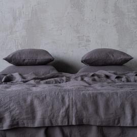 Grigio Set di Biancheria da Letto in Lino Stone Washed