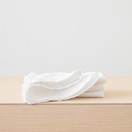 Tovagliolo in Lino Stone Washed Bianco Ottico