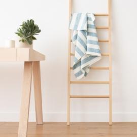 Asciugamano da bagno in Lino Marine Blue Philippe