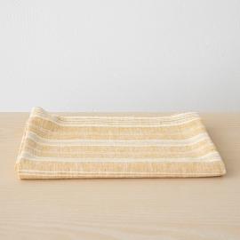 Asciugamano da bagno in Lino Gold Multistripe