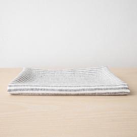 Asciugamano Da Bagno in Lino Graphite Brittany