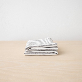 Set di 2 Graphite Asciugamani da mano in Lino Brittany