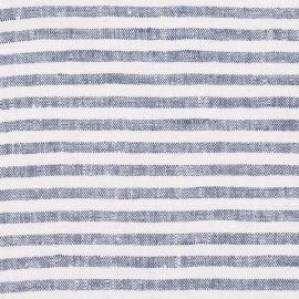 Tessuto Di Lino Blu Scuro Bretagna Prelavato