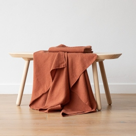 Asciugamano da Bagno in Lino Rust Washed Waffle