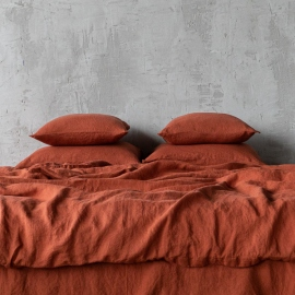 Brick Set di Biancheria da Letto in Lino Stone Washed