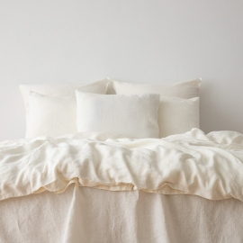 Off White Set di Biancheria da Letto Crushed