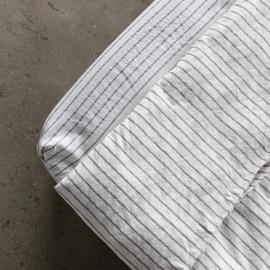 Graphite Lenzuolo con Angoli in Lino Stripe Washed
