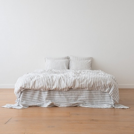 Indigo Set di Biancheria da Letto in Lino Stripe Washed