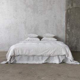 Graphite Set di Biancheria da Letto in Lino Stripe Washed
