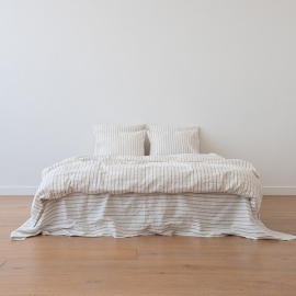 Natural Set di Biancheria da Letto in Lino Stripe Washed