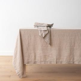 Tovaglia in lino Natural Brick Check