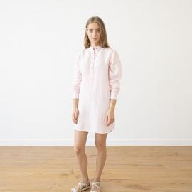 Pink Pinstripe Camicia da Notte Lino Alma