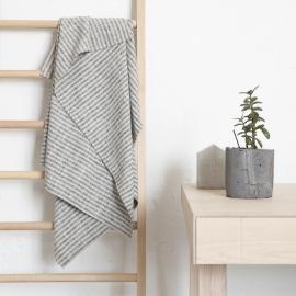 Asciugamano Da Bagno Nero in Lino Naturale Bretagna