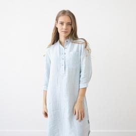 Sky Blue Melange Camicia da Notte Lino Veronica