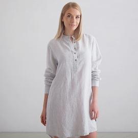 Silver Stripe Camicia da Notte Lino Alma