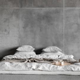 Silver Federa in Lino Stone Washed Rhomb