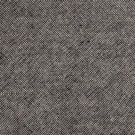 Tessuto Lino Natural/Black Prelavato Rustico