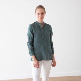 Balsam Green Camicia in Lino Toby