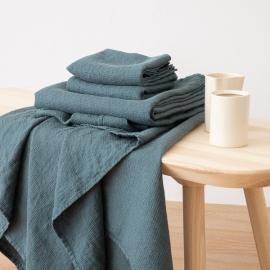 Asciugamano da Bagno in Lino Balsam  Green Washed Waffle