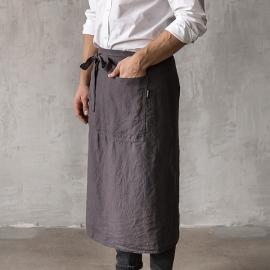 Grembiule da uomo in Lino Grey Chef Stone Washed