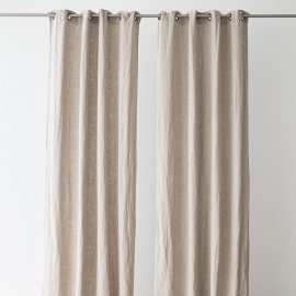 Linen Curtain Panel Grommet Natural Terra