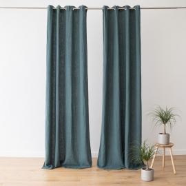 Linen Curtain Panel Grommet Balsam Green Terra