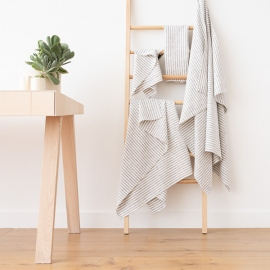 Set asciugamani da bagno in lino Graphite Brittany
