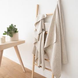 Set di asciugamani da bagno in lino naturale Provance
