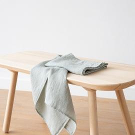 Set di 2 Asciugamani da Mano in Lino Sea Foam Washed Waffle