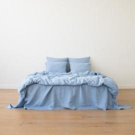 Blue Set di Biancheria da Letto Crushed Melange