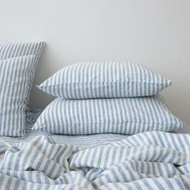 Blue Federa in Lino Ticking Stripe