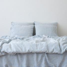Blue Set di Biancheria da Letto Ticking Stripe