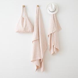 Borsa da Spiaggia Brittany in lino Rosa