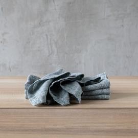 Tovagliolo in Lino Stone Washed Rhomb Balsamo Verde