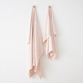 Asciugamano in lino Brittany Rosa