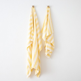 Asciugamano in lino Philippe Yellow