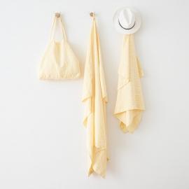 Asciugamano in lino Brittany Yellow