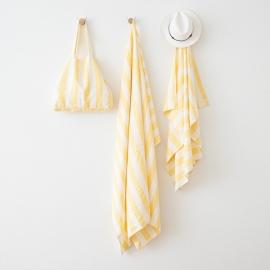 Borsa da Spiaggia Philippe in lino Yellow