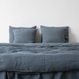 Blu Copripiumino in Lino Stone Washed